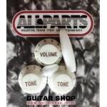 ฝาโวลุ่มโทนกีตาร์สีขาวALLPARTS® USA Style