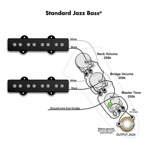 ชุดวงจรเฟนเดอร์ Jazz Bass Modern Style