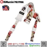 สายสะพายกีตาร์ DiMarzio Polyphia Floral Muse White ClipLock®