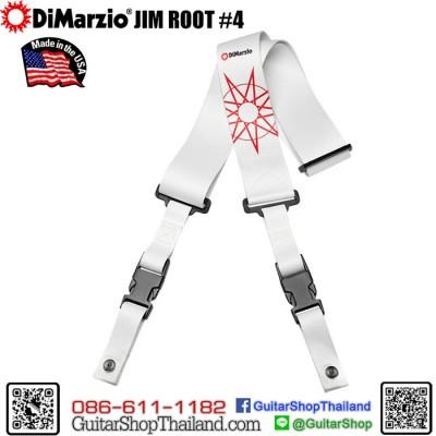 สายสะพายกีตาร์ DiMarzio Jim Root #4 White ClipLock®