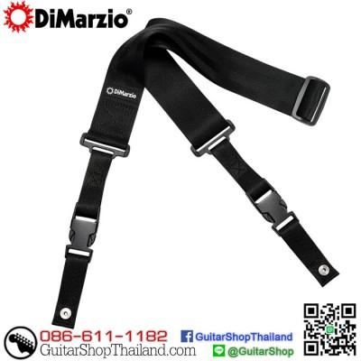 สายสะพายกีตาร์คลิปล็อค DiMarzio Nylon ClipLock® Black