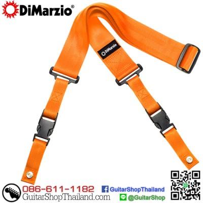 สายสะพายกีตาร์คลิปล็อค DiMarzio Nylon ClipLock® Orange