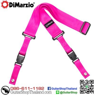 สายสะพายกีตาร์คลิปล็อค DiMarzio Nylon ClipLock® Pink