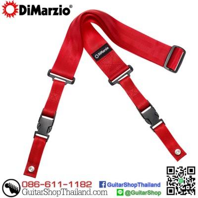 สายสะพายกีตาร์คลิปล็อค DiMarzio Nylon ClipLock® Red