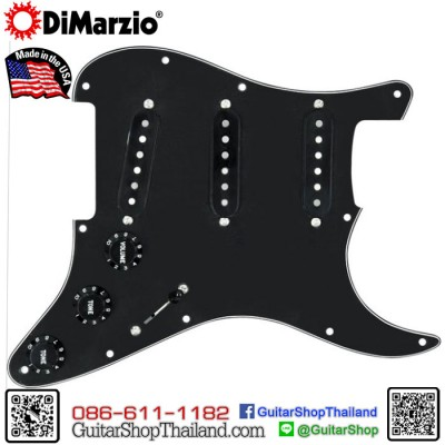 ปิคอัพ DiMarzio Area™ Strat® Loaded Pickguard Black