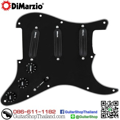 ปิคอัพ DiMarzio Billy Corgan Strat® Pickguard Black