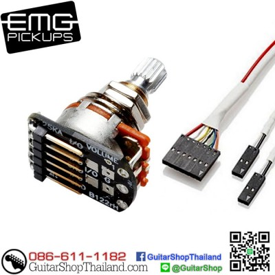 พอทโวลุ่ม EMG® 25K Split Shaft Solderless