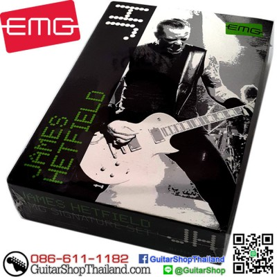 ปิคอัพ EMG® JH James Hetfield Black Chrome Set