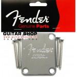 เพลทยึดคอกีตาร์ Fender® USA Corona Chrome