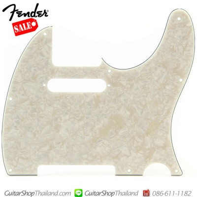 ปิคการ์ด Fender Tele®4Ply Aged White Pearl