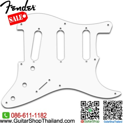 ปิคการ์ด Fender Strat® SSS 1Ply 8hole White