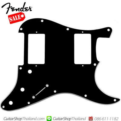 ปิคการ์ด Fender Strat® HH 3Ply Black