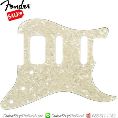 ปิคการ์ด Fender Strat® HSS 11Hole 3Ply  Age White Pearl