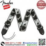 """สายสะพายกีตาร์ Fender® 2"""" Monogrammed Straps Black"""
