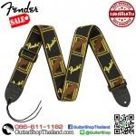 """สายสะพายกีตาร์ Fender® 2"""" Monogrammed Straps Brown"""
