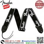 """สายสะพายกีตาร์ Fender® 2"""" Running Logo Black"""