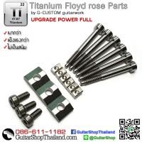 ฝาล็อคนัท/เต๋า/สกรู Floyd Rose-Titanium Set
