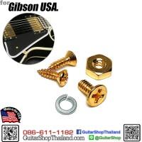 สกรูขาเหล็กยึดปิคการ์ด Gibson Les Paul USA Gold