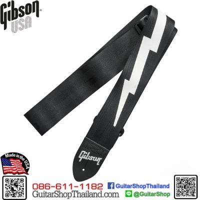 สายสะพาย Gibson® The Lightning Bolt Seatbelt Black