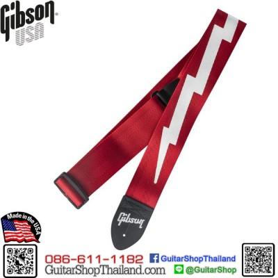 สายสะพาย Gibson® The Lightning Bolt Seatbelt Red