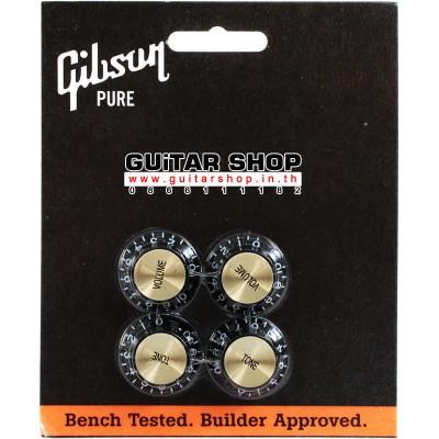 ฝาโวลุ่มโทน Gibson® Tophat Knobs Black/Gold