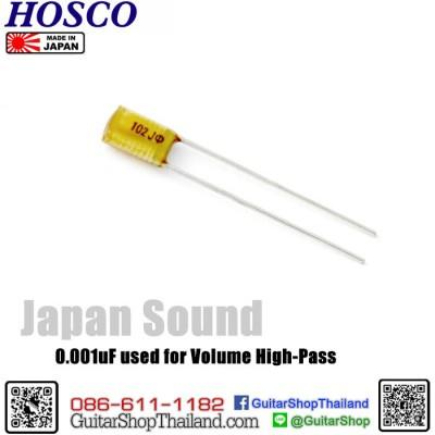 คาปา Hosco® CR102/0.001uF Treble Bleed/High-Pass Filter