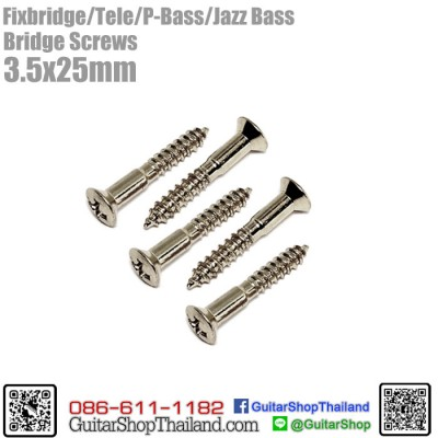 สกรูยึดหย่อง Fixbridge/Tele/P-Bass/Jazz Bass Nickel