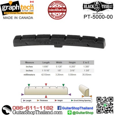 นัทกีตาร์ Graph Tech® BLACK TUSQ XL Fender(OEM)