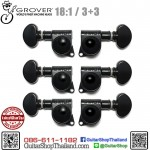 ลูกบิด GROVER® 3+3 Mini Rotomatic Black