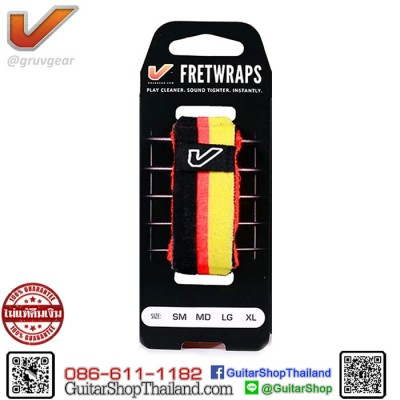 เฟรตแร๊พ Gruv Gear FretWraps Black/Red/Yellow