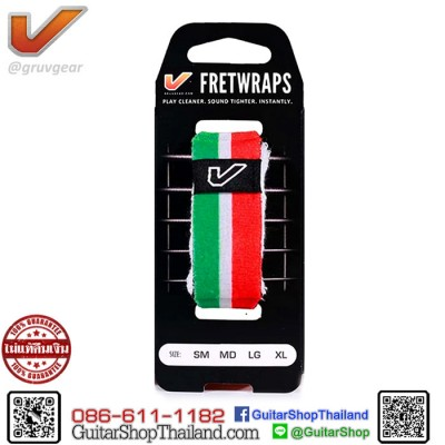 เฟรตแร๊พ Gruv Gear FretWraps Black Green/White/Red