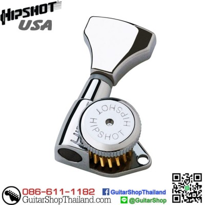 ลูกบิดล็อคสาย Hipshot® 3+3 Grip-Lock™ Chrome