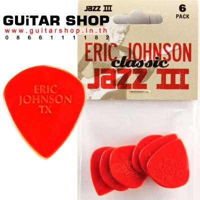 ปิค Jim Dunlop Eric Johnson Jazz 1.38MM Pack