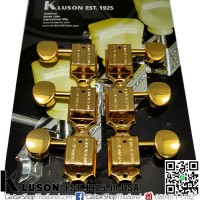 ลูกบิด Kluson®3L3R Vintage Oval Metal Knobs Gold