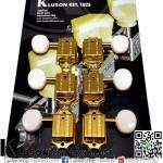 ลูกบิด Kluson®3L3R Vintage Round White Button