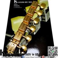 ลูกบิด Kluson®6InLine Vintage Oval Metal Gold