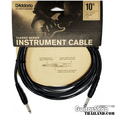สายแจ็ค D'Addario/Planet Waves Classic Series 10ft