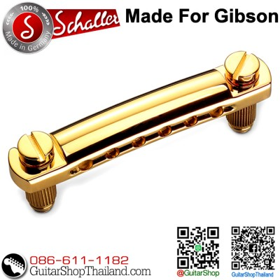 หย่อง Schaller Stop Bar Tail Piece Gold