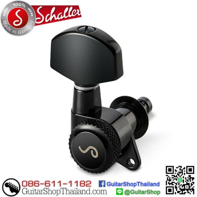 ลูกบิดล็อคสาย Schaller M6 3L+3R Black