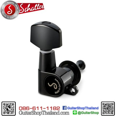 ลูกบิด Schaller M6 Mini Inline Black