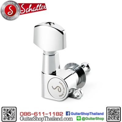 ลูกบิด Schaller M6 Mini 3R+3L Chrome