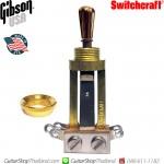 สวิทช์กีตาร์ Gibson®USA 3Way Gold Metal Tip