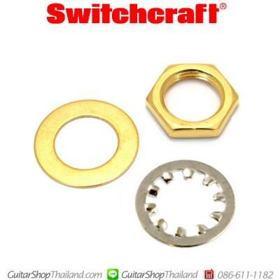 น็อตพร้อมแหวนรองสำหรับพอทและแจ็คสีทอง