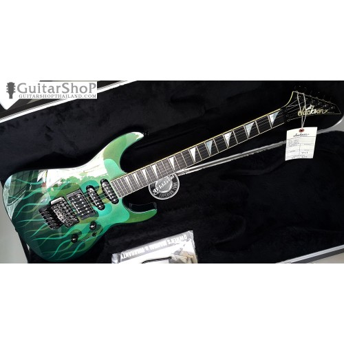 Jackson Sl1 USA Soloist Green Ghost Flames