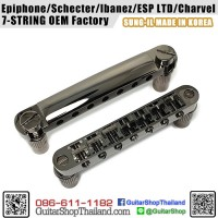 หย่องกีตาร์ 7-String Tune-O-Matic Bridge Black Chrome