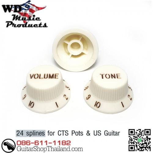 ฝาโวลุ่มโทนกีตาร์สตัท USA by WDMusic® Parchment