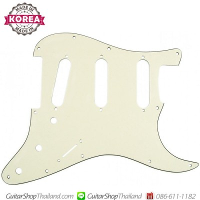 ปิ๊กการ์ด Strat®SSS 11Hole 3Ply Age White X-GUARDS