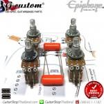 ชุดพอทกีตาร์ Epiphone®500K 4Push/Pull DPDT.