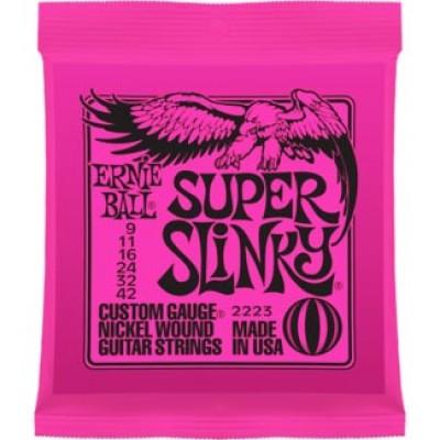 สายกีตาร์ไฟฟ้า Ernie Ball Nickel Super Slinky 09-42