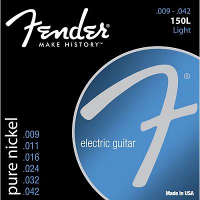 สายกีตาร์ไฟฟ้า Fender 150L Pure Nickel 09-42